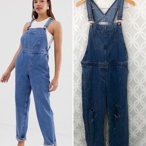 ASOS Denim Distressed Side ZIP Overall
